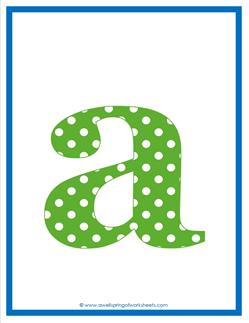 polka dot letters - lowercase a