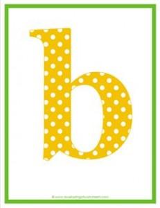 polka dot letters - lowercase b