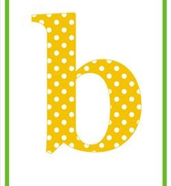 polka dot letters - lowercase b