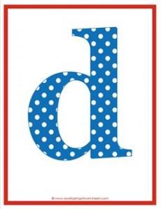 polka dot letters - lowercase d