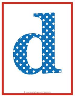 polka dot letters - lowercase d