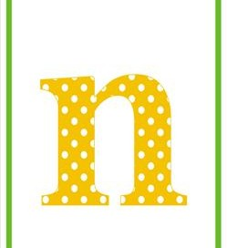 polka dot letters - lowercase n