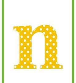 polka dot letters - lowercase n