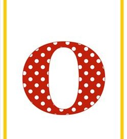 polka dot letters - lowercase o