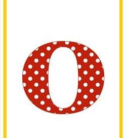 polka dot letters - lowercase o
