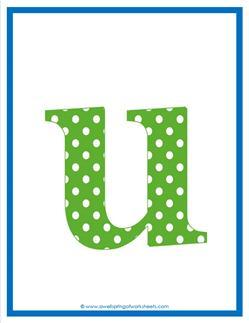 polka dot letters - lowercase u