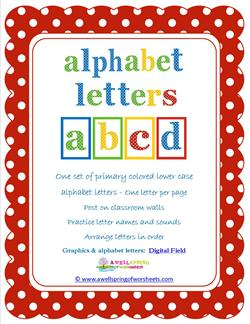 polka dot letters - lowercase - whole set