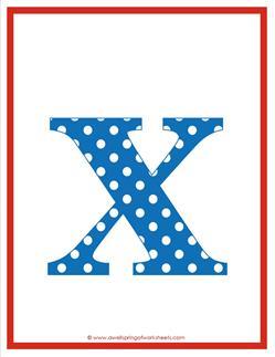 polka dot letters - lowercase x
