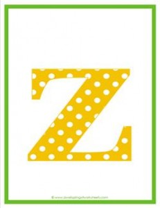 polka dot letters - lowercase z