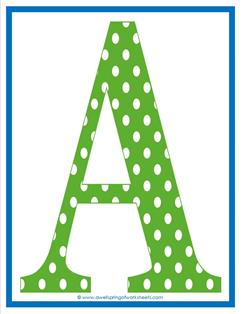 polka dot letters uppercase a