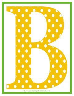 polka dot letters - uppercase b