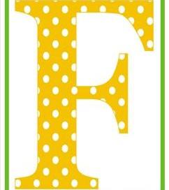 polka dot letters - uppercase f