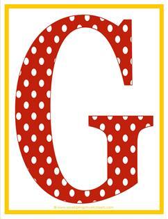 polka dot letters - uppercase g