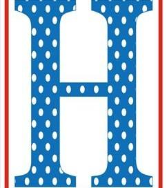 polka dot letters - uppercase h