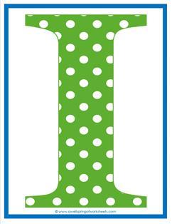 polka dot letters - uppercase i