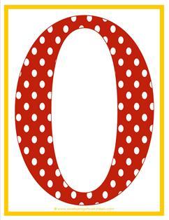 polka dot letters - uppercase o
