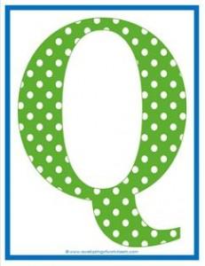 polka dot letters - uppercase q