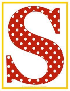 polka dot letters - uppercase s