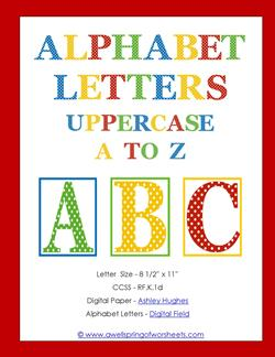 polka dot letters - uppercase - whole set