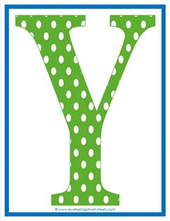 polka dot letters - uppercase y
