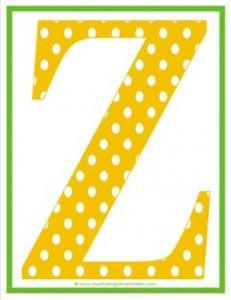 polka dot letters - uppercase z