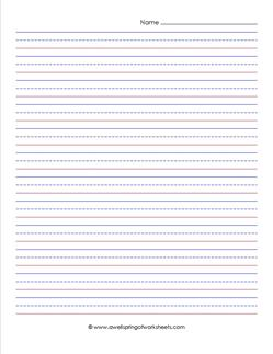 "priamry lined paper - portrait 1/2"" - name"