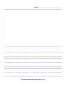"primary lined paper - portrait - 1"" - name - picture"