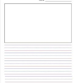 primary lined paper portrait 58 inch name picture
