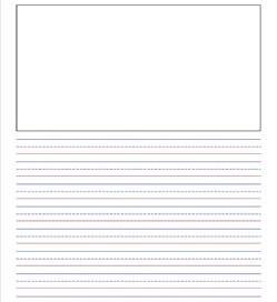 "primary lined paper - portrait - 7/16"" - name & portrait"