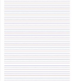Primary Lined Paper U2013 Portrait U2013 7/16u2033  Print College Ruled Paper