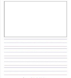 "primary lined paper - portrait - 7/8"" - name & picture"