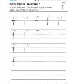 printing practice - lower case f - handwriting worksheets for kindergarten