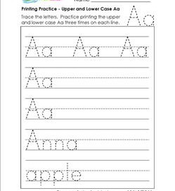 printing practice - upper and lower case Aaprinting practice - upper and lower case Bb - handwriting practice for kindergarten