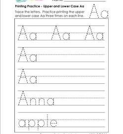 printing practice - upper and lower case Aaprinting practice - upper and lower case Bb - handwriting practice for kindergarten