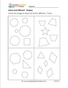 Same and Different - Shapes