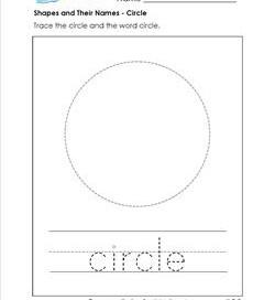 shapes and their names - circle