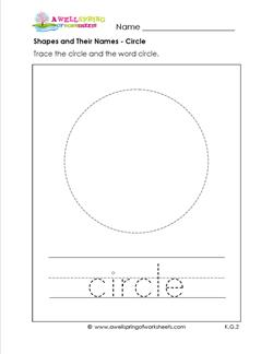 shapes and their names - circle