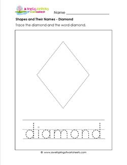 shapes and their names - diamond