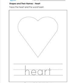 shapes and their names - heart