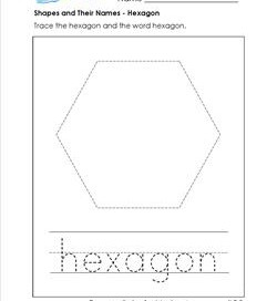 Shapes and their names kindergarten shapes a wellspring shapes and their names hexagon ccuart