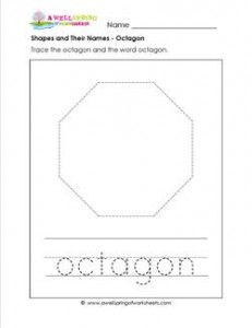 shapes and their names - octagon
