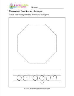 shapes and their names octagon shape worksheets. Black Bedroom Furniture Sets. Home Design Ideas