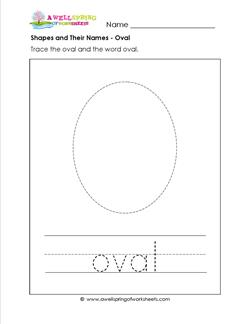 shapes and their names - oval
