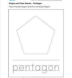 shapes and their names - pentagon