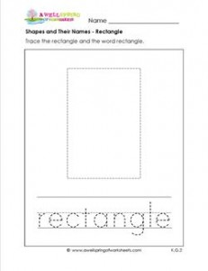 shapes and their names - rectangle