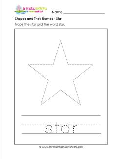 shapes and their names - star