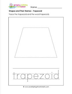 Shapes and Their Names - Trapezoid - Shapes Worksheets