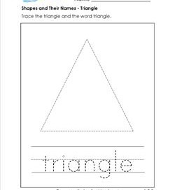 Shapes and Their Names - Triangle