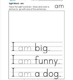 Sight word practice worksheets trace and say sight words sight word am ibookread PDF