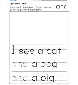 sight word and